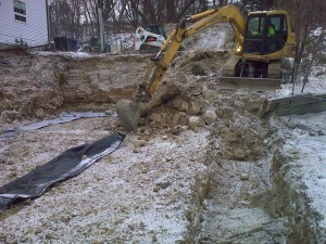 10 Rubble and soil removal for footings on Rock