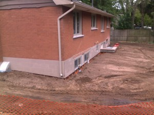 12 Backfilled side and Rear