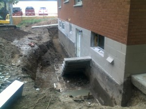 2 Excavate Wall and remove broken Block Staircase