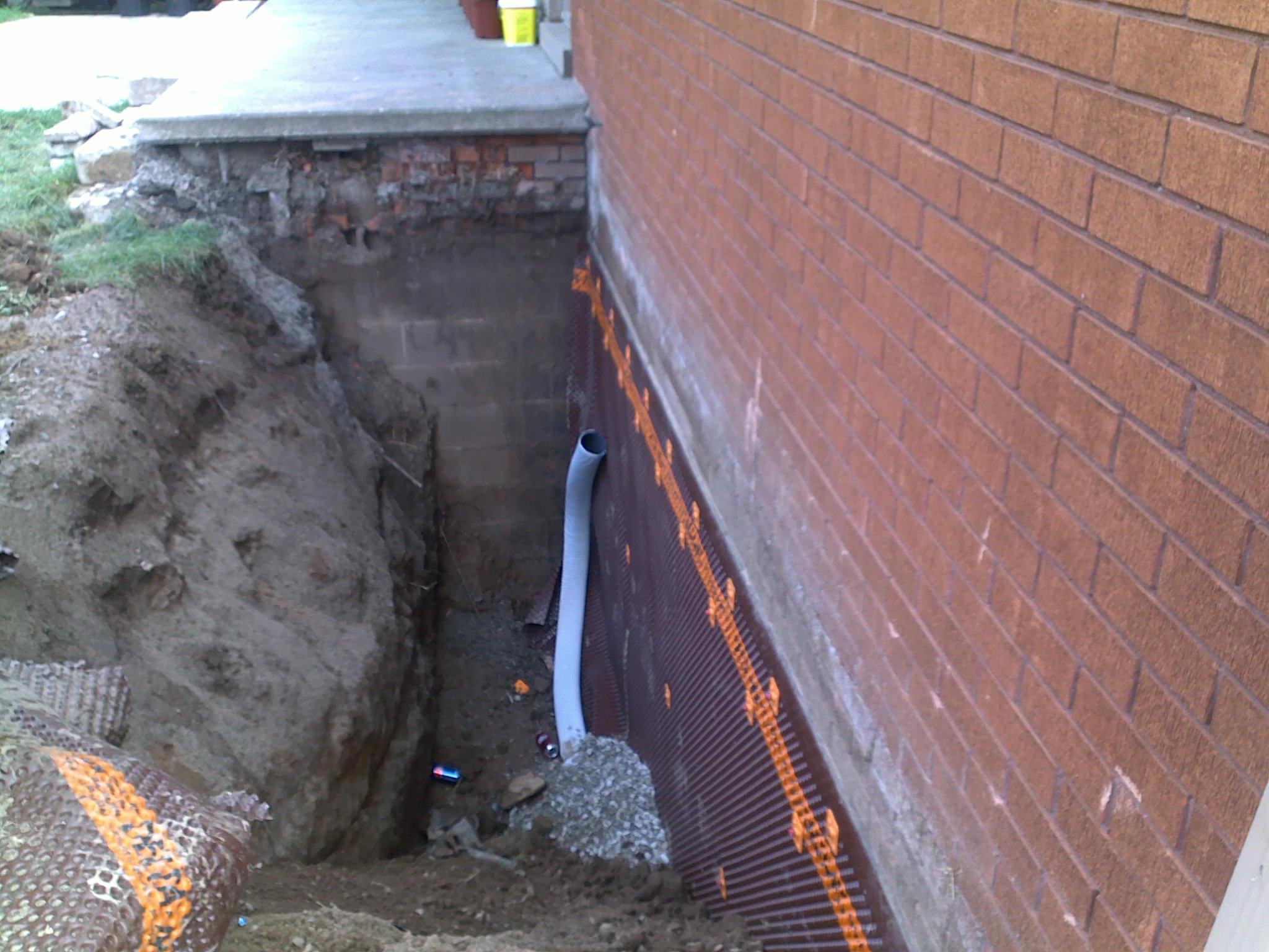 wet basement repair and regrading