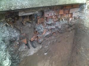 4 Old Porch Bricks Disintegration