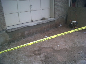 4 Repair Garage slab and foundation wall