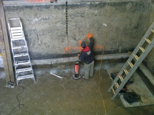 6 Marking Wall for Concrete Wall Cut